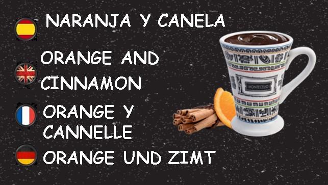 CHOCOLATE NEGRO NARANJA Y CANELA